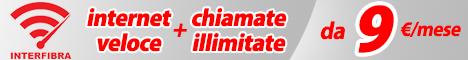 Interfibra - Internet veloce + chiamate illimitate a partire da 9 � al mese