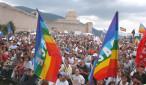 Perugia,11/9/2005 Manifestazione di chiusura della marcia della pace Perugia-Assisi alla rocca di Assisi.  foto: Roberto Brancolini©